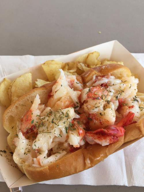 Kathy Stephenson  |  The Salt Lake Tribune  The lobster roll from Freshies Food Truck in Park City.