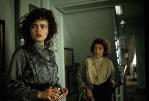 "Helena Bonham Carter (left) and Emma Thompson star in the 1992 Merchant/Ivory production ""Howards End,"" which is returning to theaters in a restored print. Courtesy Cohen Media Group"