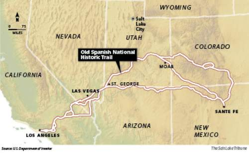 Interior completes review of Old Spanish National Historic Trail Traders and explores traveled this 2,800-mile network of trails between 1829 and 1848 using trains of pack mules to move goods between Santa Fe and Los Angles, then remote northern outposts of Mexican territory.
