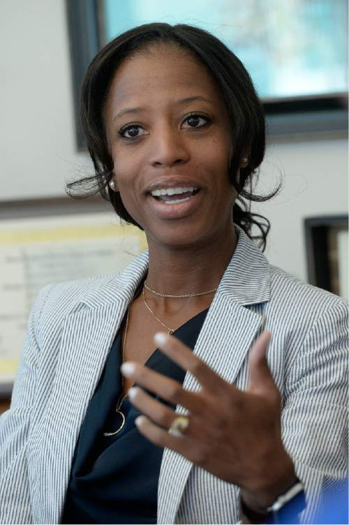 Al Hartmann      Tribune file photo Utah Rep. Mia Love meets with Salt Lake Tribune's editorial board, Tuesday August 30.