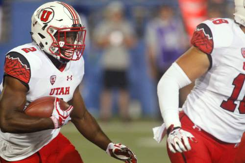 Utah running back Zack Moss carries against San Jose State during the first half of an NCAA college football game on Saturday, Sept. 17, 2016, in San Jose, Calif. (AP Photo/Mathew Sumner)
