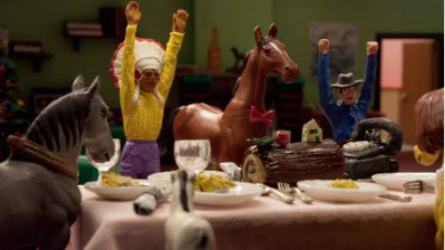 "Indian, Horse and Cowboy (from left) are characters in the Belgian animated series ""A Town Called Panic."" Two short films in that series will screen at the Tower Theatre in Salt Lake City and the Park City Library Center in Park City on Saturday, Sept. 24, as part of the first national Art House Theater Day. Courtesy GKIDS"