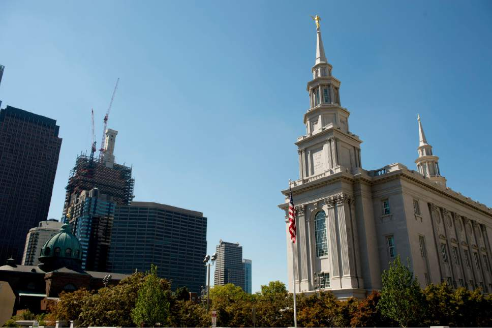 Jeremy Harmon  |  The Salt Lake Tribune  The Philadelphia Pennsylvania Temple on Wednesday, September 14,  2016.
