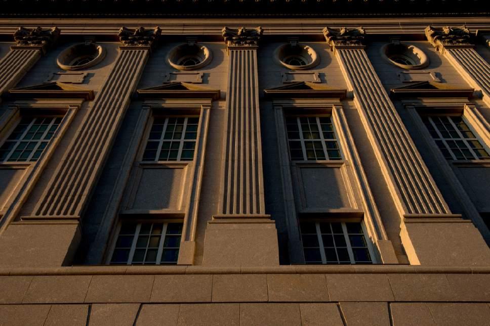 Jeremy Harmon  |  The Salt Lake Tribune  The exterior of the Philadelphia Pennsylvania Temple on Wednesday, September 14,  2016.