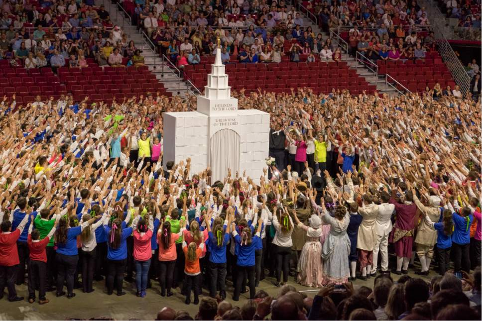 Courtesy     LDS Newsroom  A cultural celebration highlighted the completion of the Philadelphia Pennsylvania Temple. Mormon youth who live within the boundaries of the temple performed.