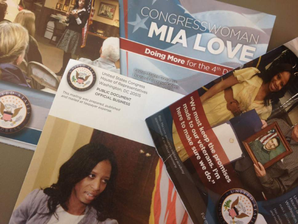 These are a few of the taxpayer-funded mailers Rep. Mia Love, R-Utah, has sent to constitutents.