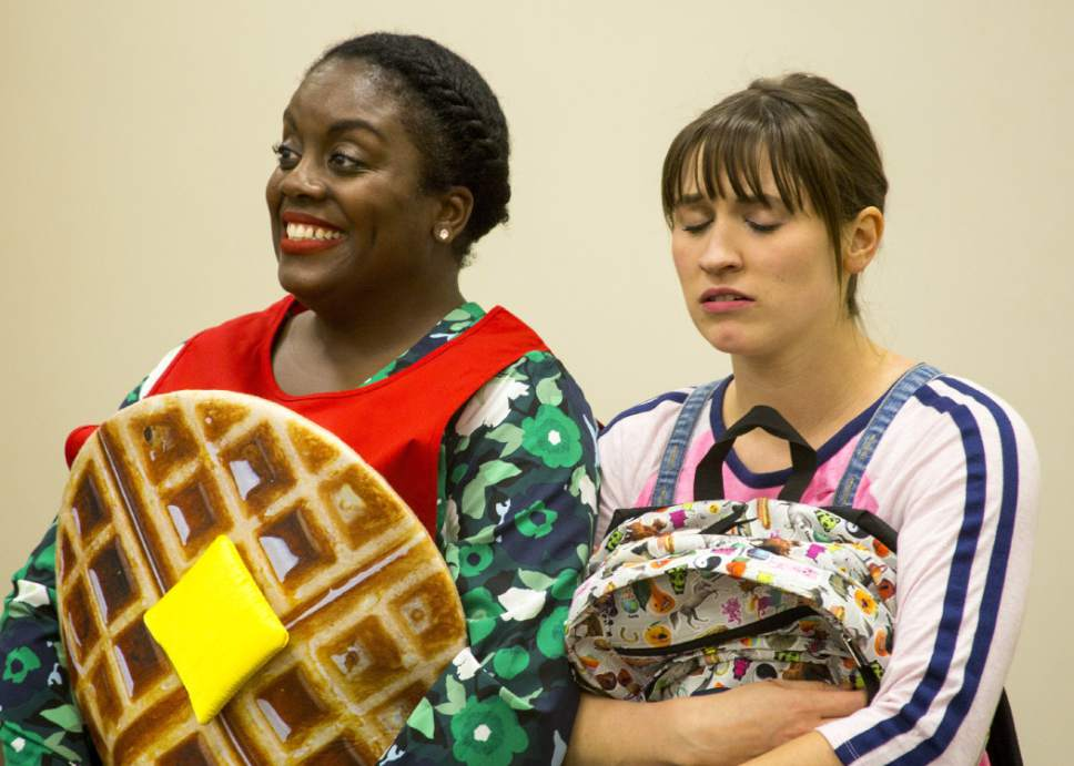 """Anne Louise Brings and Dee-Dee Darby Duffin will perform in Plan-B Theatre's """"The Edible Complex,"""" a new play for elementary students by Utah playwright Melissa Leilani Larson. Rick Pollock  