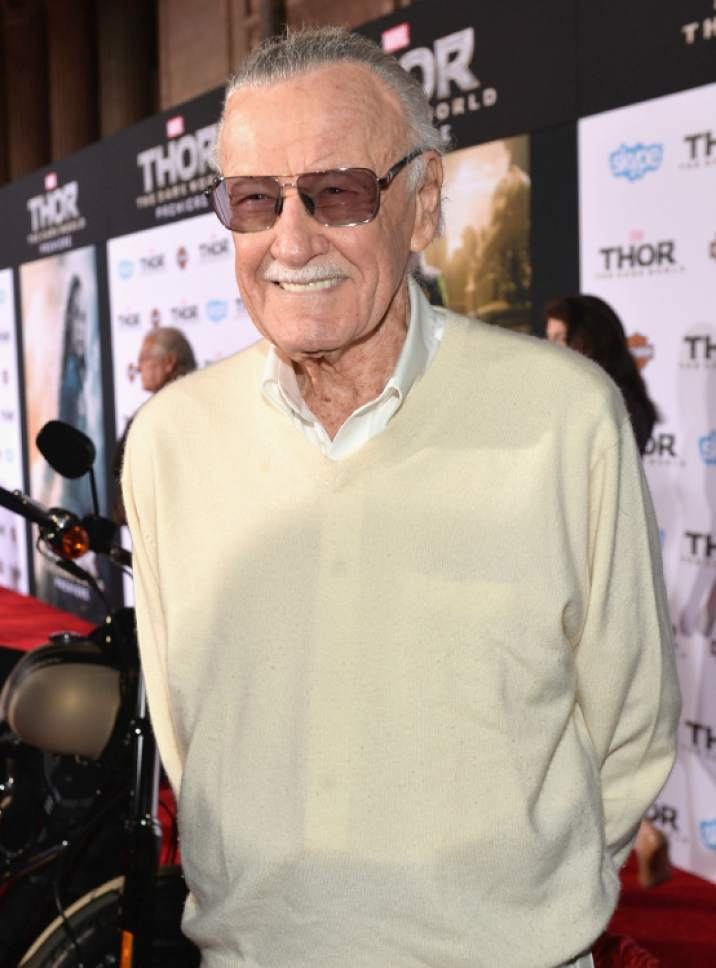 """In this file photo,  Marvel Comics president Stan Lee is seen  in 2013 at a premiere for """"Thor: The Dark World."""" Courtesy Disney"""