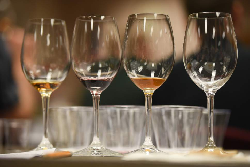 Francisco Kjolseth | The Salt Lake Tribune Various wine samples are lined up as the DABC starts a new training class for Utah's liquor store employees. The Utah Department of Alcoholic Beverage Control got funding from the 2016 legislature for the training, something the public has been demanding for many years.