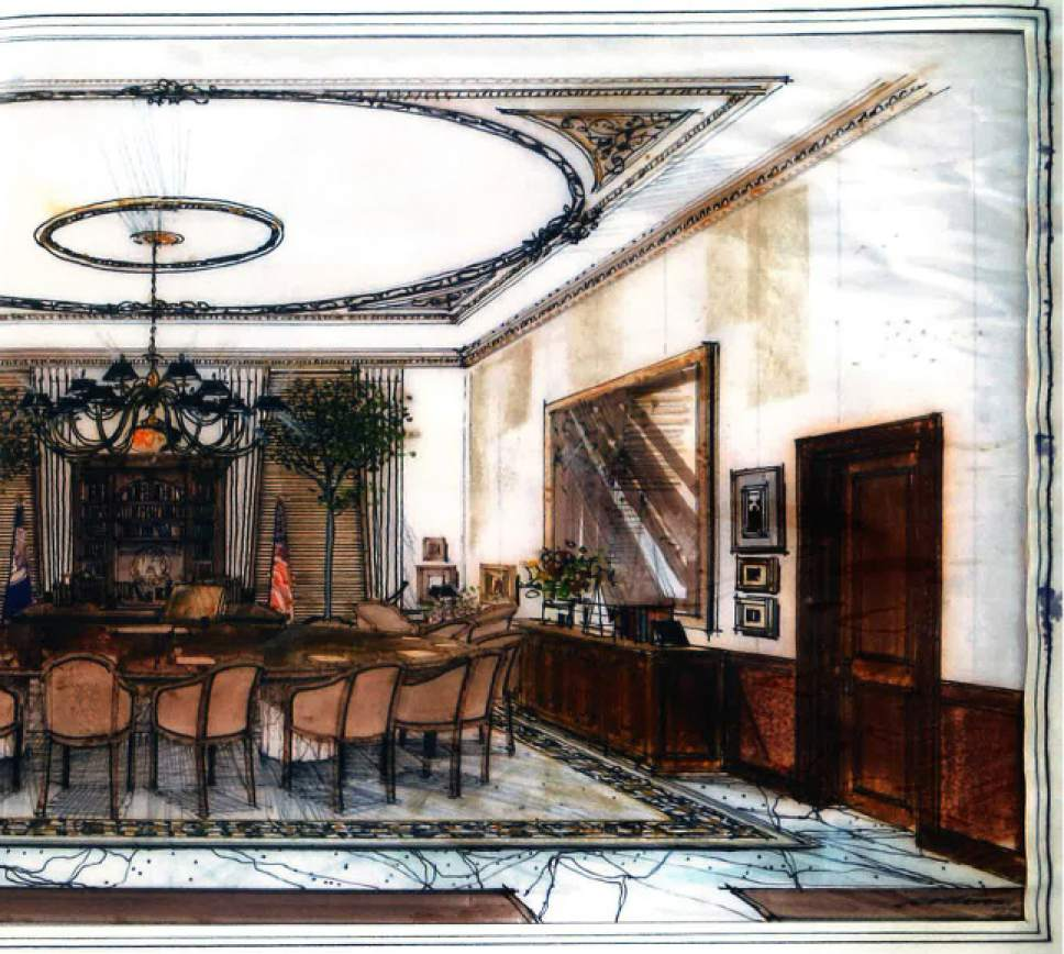 Courtesy Photo A Rendering Of Merline Leaming S Design The Utah Governor Office