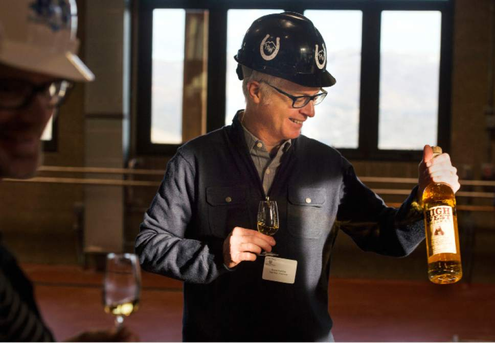 Steve Griffin  |  The Salt Lake Tribune Utah's High West Distillery is being bought for $160 million by one of the largest alcohol beverage companies in the country. Founder David Perkins,  shown here in 2014, will continue to work as brand ambassador.