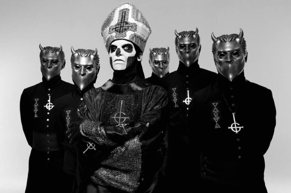 """Courtesy photo  Swedish metal band Ghost, consisting of lead singer Papa Emeritus III and five Nameless Ghouls, will play at The Complex in Salt Lake City on Saturday, Oct. 8. The band earned a """"Best Metal Performance"""" Grammy for the song """"Cirice,"""" and its new EP, """"Popestar,"""" just went to No. 1 on Billboard's Top Rock Albums chart."""