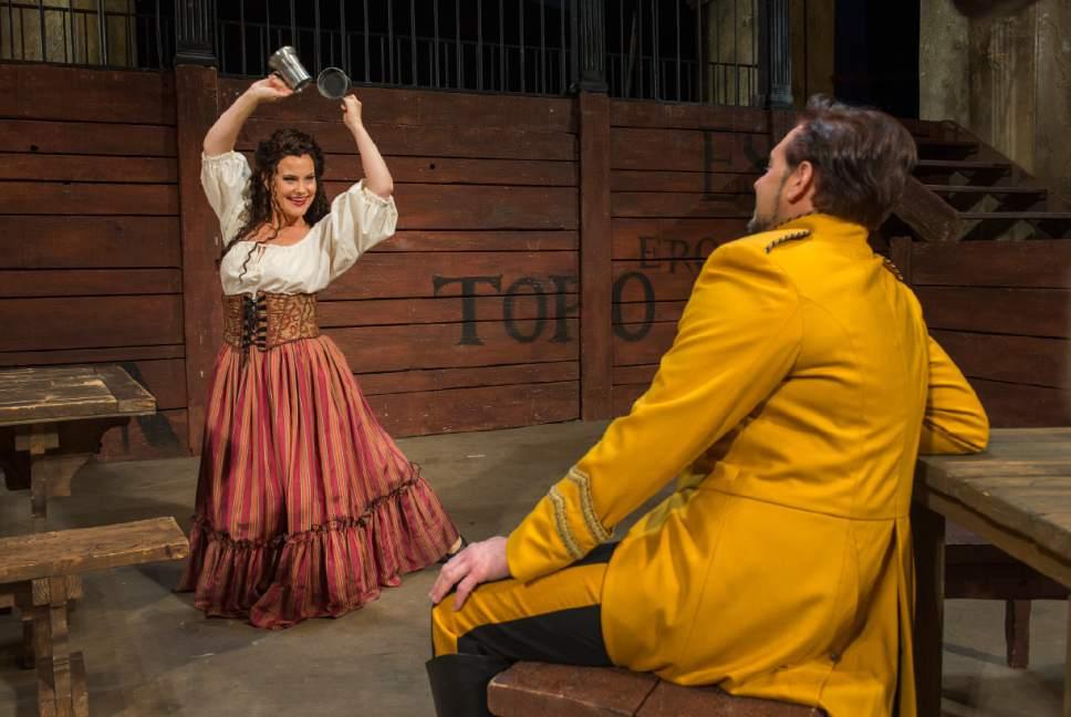 "Leah Hogsten     The Salt Lake Tribune In Utah Opera's ""Carmen,"" mezzo-Soprano Elise Quagliata is Carmen and tenor Dominick Chenes is Don Jose. The popular Bizet opera opens the company's season Saturday, Oct. 8."