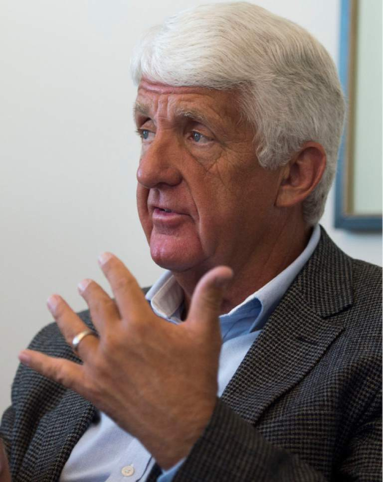 Steve Griffin / The Salt Lake Tribune   U.S. Rep. Rob Bishop meets with the Salt Lake Tribune Editorial Board at the paper's offices in Salt Lake City Monday September 19, 2016.