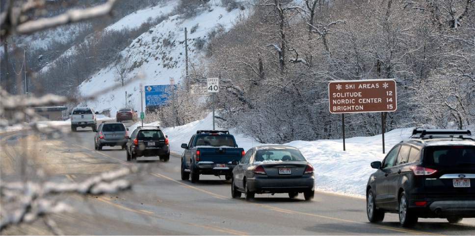 Al Hartmann  |  The Salt Lake Tribune Ski Traffic was brisk at the mouth of Big Cottonwood Canyon Friday Feb. 5 after an overnight storm dropped some snow at the resorts. Phase 2 of the Mountain Accord process is being launched.  It's emphasis will be to deal with existing traffic problems in the two Cottonwood canyons.