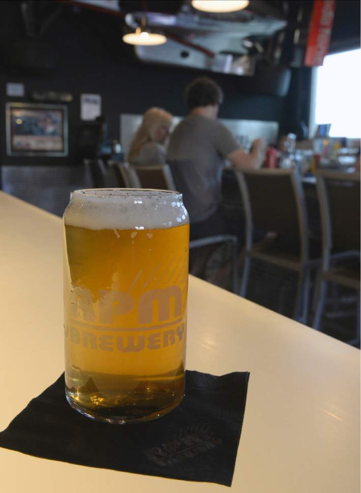 Al Hartmann  |  The Salt Lake Tribune The new Garage Grill & RPM Brewery at 1122 E. Draper Parkway in Draper features a car-themed interior with race cars and classic hot rods. They have their own line of six beers on draft in the full-service bar.