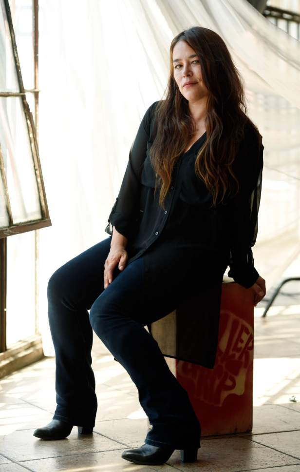 "In this Sept. 1, 2016 file photo, singer Rachael Yamagata poses for a portrait at H.Q. Avalon Studios in Los Angeles. Yamagata's new music video for ""Let Me Be Your Girl,"" was directed by Josh Radnor and stars Emmy-winning actress Allison Janney. (Photo by Chris Pizzello/Invision/AP)"