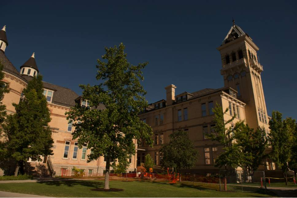 Leah Hogsten  |  Tribune file photo Old Main Building is at Utah State University. In the wake of sexual assault allegations lodged against former USU linebacker Torrey Green, the school has announced the formation of committes to address sexual violence on campus.