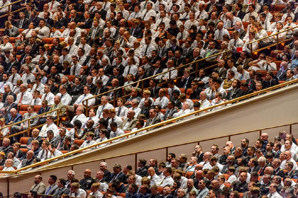Trent Nelson  |  The Salt Lake Tribune The General Priesthood Session of the LDS Church's 186th Semiannual General Conference in Salt Lake City, Saturday October 1, 2016.
