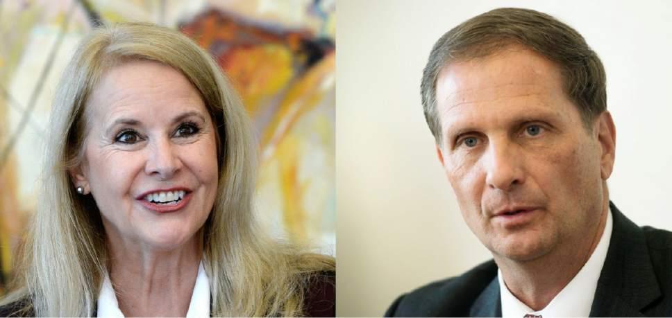 |  The Salt Lake Tribune  Chris Stewart and Charlene Albarran