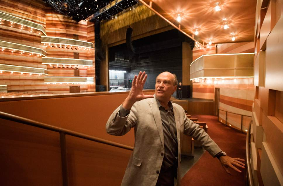 Rick Egan  |  The Salt Lake Tribune  Acoustics consultant Mark Holden talks about the effort and research that went into the state-of-the-art George S. and Dolores Doré Eccles Theater, opening Oct. 21 in downtown Salt Lake City.