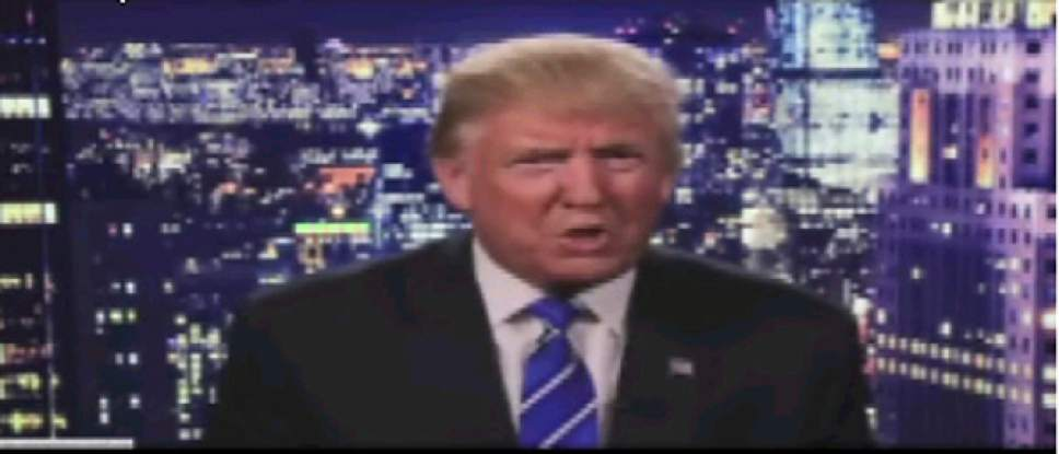 """This screen grab from a video post on Donald Trump's official Facebook account, shows the republican presidential nominee apologizing regarding comments he made in 2005. Trump insisted Saturday, Oct. 8, 2016,  he would """"never"""" abandon his White House bid, facing an intensifying backlash from Republican leaders across the nation who called on him to quit the race following the release of his vulgar and sexually charged comments caught on tape. (Donald J. Trump Facebook account via AP)"""