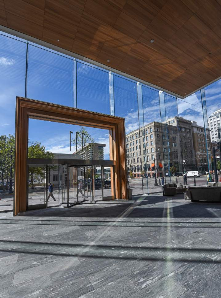 Francisco Kjolseth | The Salt Lake Tribune The new Eccles theater in downtown Salt Lake City prior to opening day.