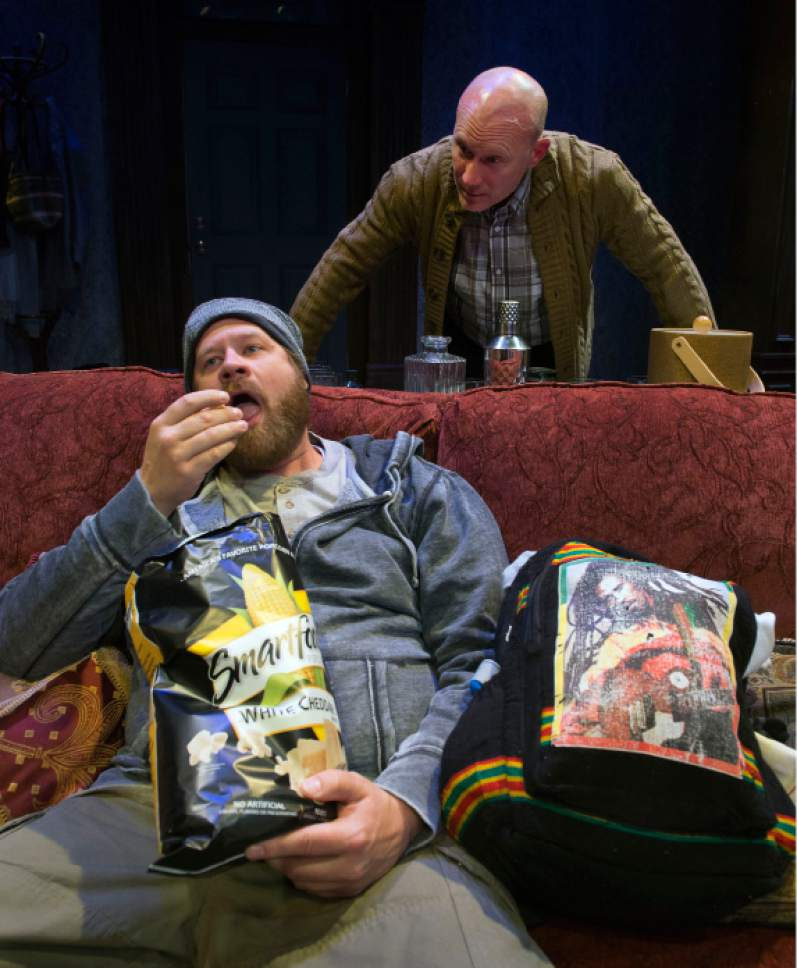 """Steve Griffin / The Salt Lake Tribune   Justin Bruse and S.A. Rogers, from a scene in SLAC's production of """"Winter"""" in Salt Lake City."""
