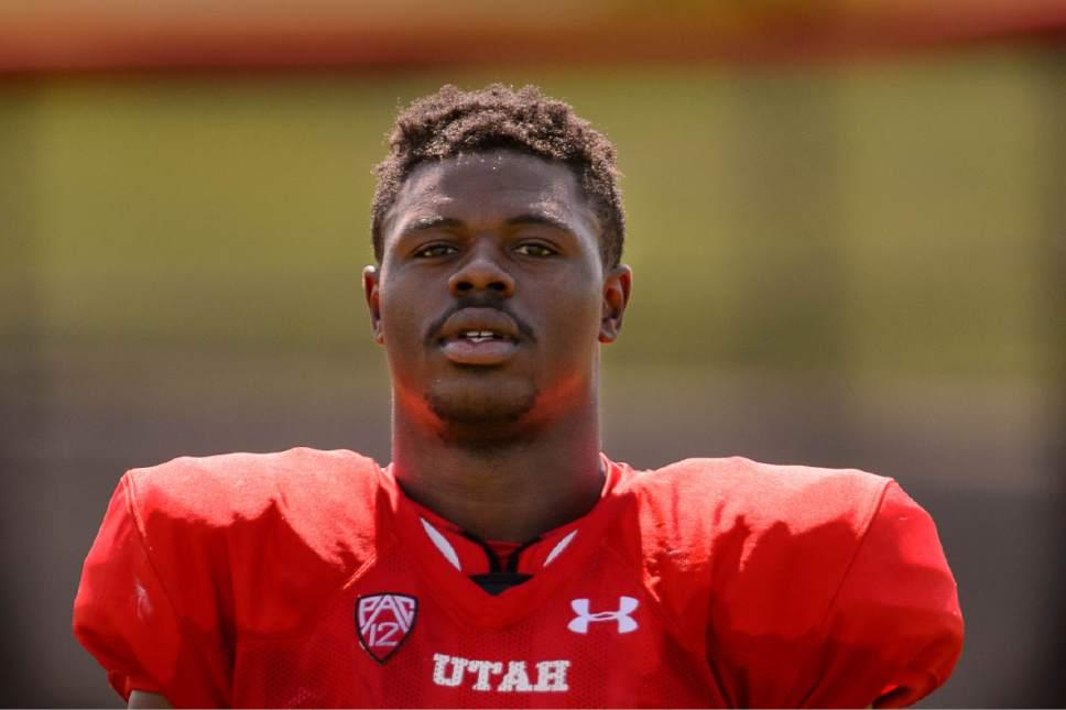 Trent Nelson  |  The Salt Lake Tribune University of Utah running back Joe Williams at football practice in Salt Lake City, Tuesday August 11, 2015.
