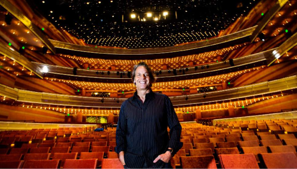 Steve Griffin / The Salt Lake Tribune   Kurt Bestor stands in the new Eccles Theater in Salt Lake City Monday October 17, 2016. He is the music director of the grand-opening show in the new theatre Friday October 21, 2016.