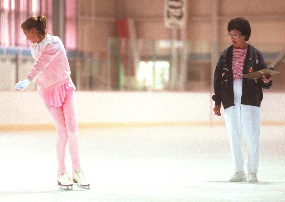 Rick Egan  |  The Salt Lake Tribune  Utah's first figure skating judge to judge for the U.S. Figure Skating Assn, Ida Tateoka watches a young skater.