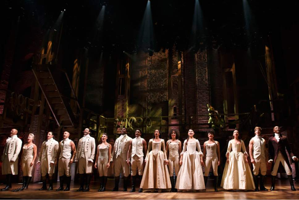 "The original cast of ""Hamilton."" Courtesy of Joan Marcus"