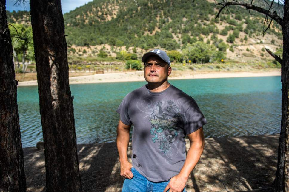 Chris Detrick  |  The Salt Lake Tribune Questa Mayor and Taos County Commissioner Mark Gallegos poses for a portrait at Eagle Rock Lake in Questa, New Mexico Thursday September 29, 2016.