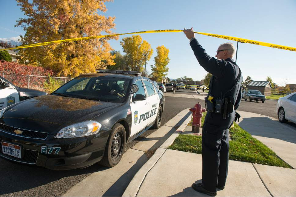 Leah Hogsten  |  The Salt Lake Tribune A 16-year-old boy was critically injured after being shot outside Union Middle School in Sandy by a 14-year-old, who is a student at the middle school. The shooting occurred about 3 p.m. when two teenage boys got into an argument on a field north of the school, said Sandy police Sgt. Dean Carriger. The victim ó who is a student at Hillcrest High School ó was transported by ambulance in critical condition to Intermountain Medical Center, where he went into surgery about 4:30 p.m. for two gunshot wounds. The 14-year-old suspect is in custody.