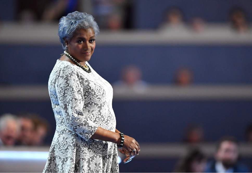Democratic National Committee Vice Chair Donna Brazile takes the stage during the second day of the Democratic National Convention in Philadelphia , Tuesday, July 26, 2016. (AP Photo/Mark J. Terrill)
