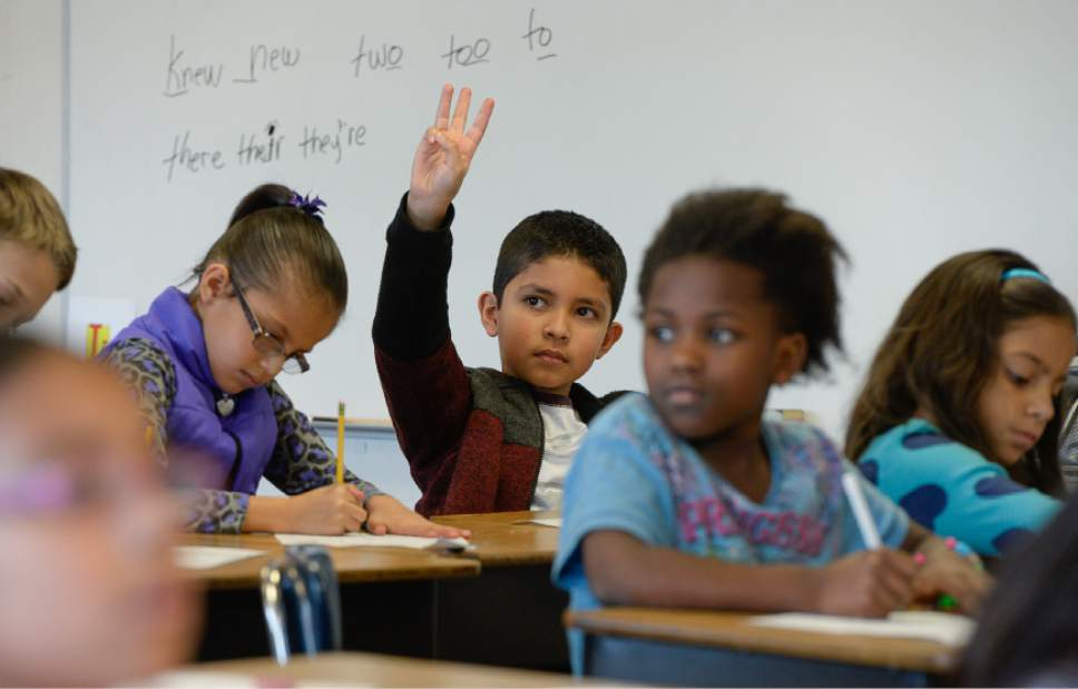Francisco Kjolseth | The Salt Lake Tribune Students work on reading comprehension at Lincoln Elementary in Salt Lake City recently. Lincoln is one of the valley's struggling schools that's part of a state program trying to turn things around.