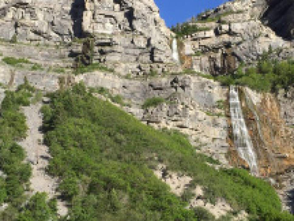 Courtesy  |  Utah County Sheriff's Office  A boy was injured near Bridal Veil Falls on Monday after a football-sized rock hit his head.