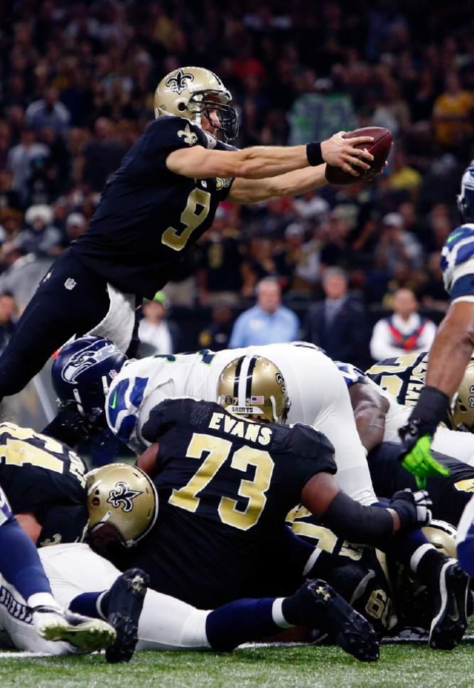 25 30 Seattle: NFL: Brees, Saints Outlast Seahawks 25-20