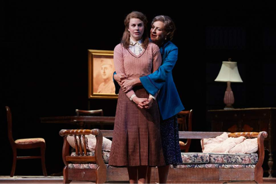 "Courtesy photo  Nance Williamson as Amanda, right, and Hanley Smith as Laura in Pioneer Theatre Company's production of Tennessee Williams' classic family drama,  ""The Glass Menagerie."" The show plays through Nov. 5 at Simmons Pioneer Memorial Theatre."