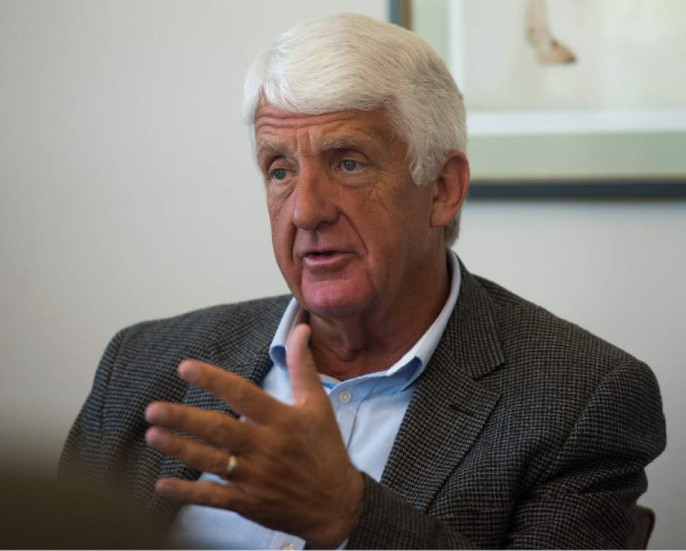Steve Griffin / Tribune file photo  U.S. Rep. Rob Bishop meets with the Salt Lake Tribune Editorial Board at the paper's offices in Salt Lake City Monday September 19, 2016.
