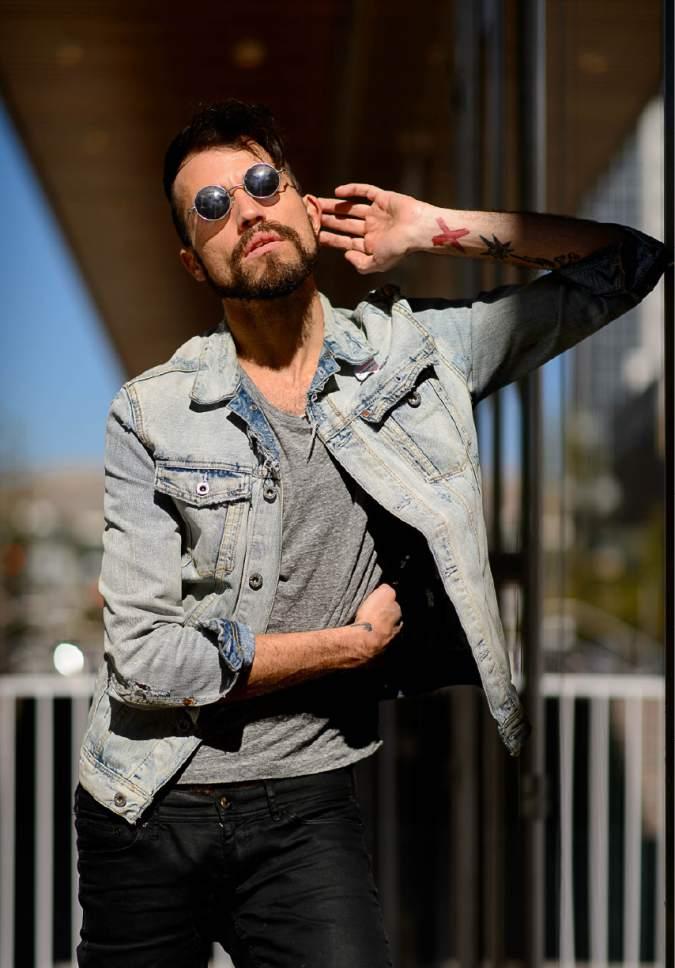 Trent Nelson  |  The Salt Lake Tribune Neon Trees lead singer Tyler Glenn in Salt Lake City, Friday October 21, 2016.