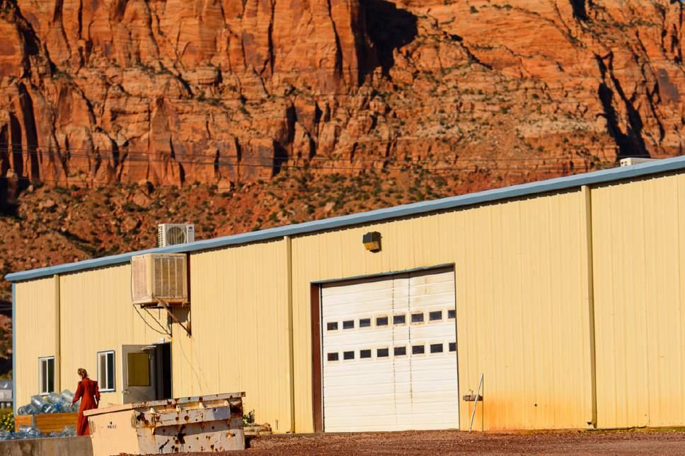 Trent Nelson  |  The Salt Lake Tribune Industrial building on Lot 8, Hildale, Wednesday September 14, 2016.