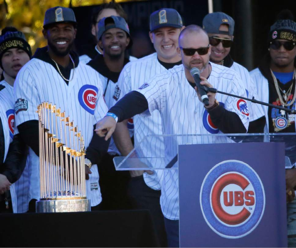 fb12becf2 ... honoring the World Series champion Chicago Cubs baseball team. Chicago  Cubs  David Ross