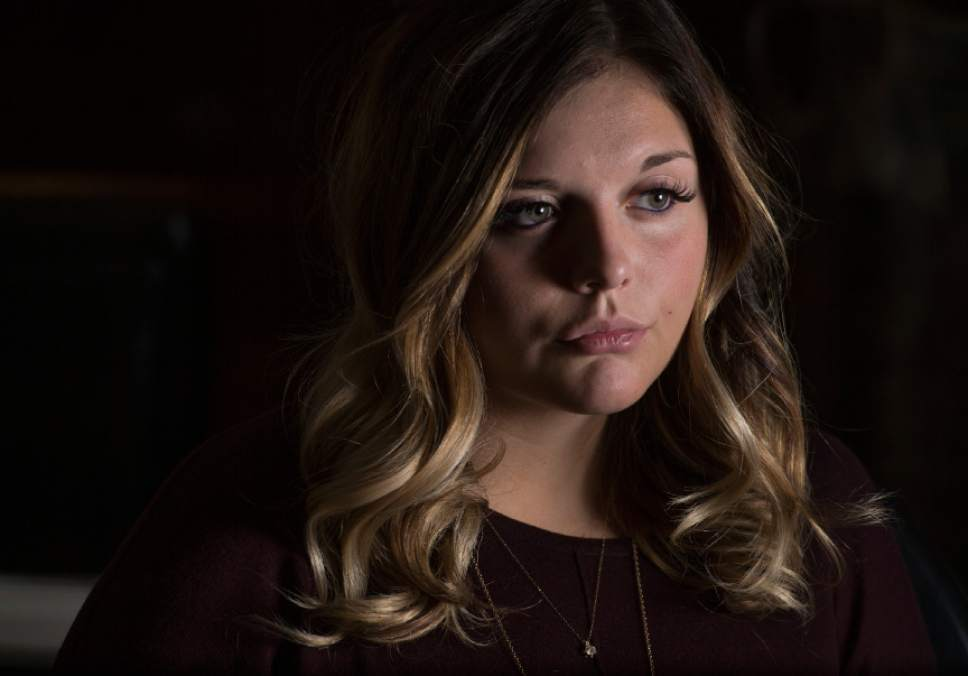 Leah Hogsten  |  The Salt Lake Tribune Victoria Hewlett was raped multiple times in July 2015 by Utah State University student Jason Relopez. Relopez pleaded guilty and is now in jail. Hewlett is suing because USU knew about other accusations leveled against Relopez a year before he raped her.