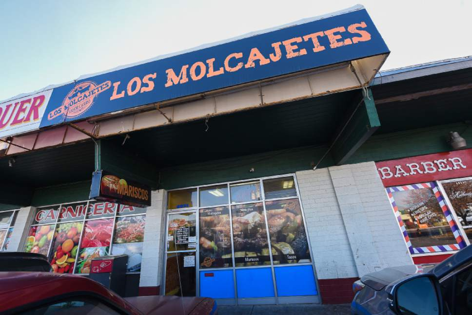 Francisco Kjolseth | The Salt Lake Tribune The modest exterior of Los Molcajetes in West Valley City doesn't do justice to the good things coming out of the kitchen. The large menu offers everything from huevos rancheros to an overflowing lava rock molcajete full of a delicious green sauce, melted cheese, chicken, steak and shrimp.