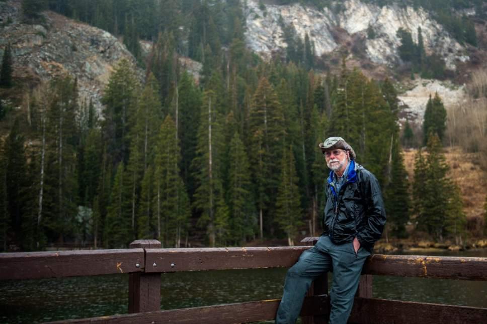 Chris Detrick  |  The Salt Lake Tribune Jim Keener poses for a portrait  at Silver Lake in Big Cottonwood Canyon Sunday October 30, 2016.