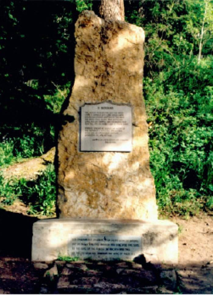Tribune file photo  This monument to Old Ephraim is near Logan, Utah.