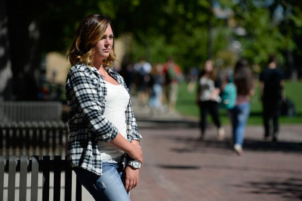 Francisco Kjolseth | The Salt Lake Tribune Morgan Klinkowski, a senior at Utah State University, was raped by Jason Relopez in October 2014. She reported to police 10 months later, after she heard that another woman had also been raped by him. He was sentenced to one year in jail in May 2016.