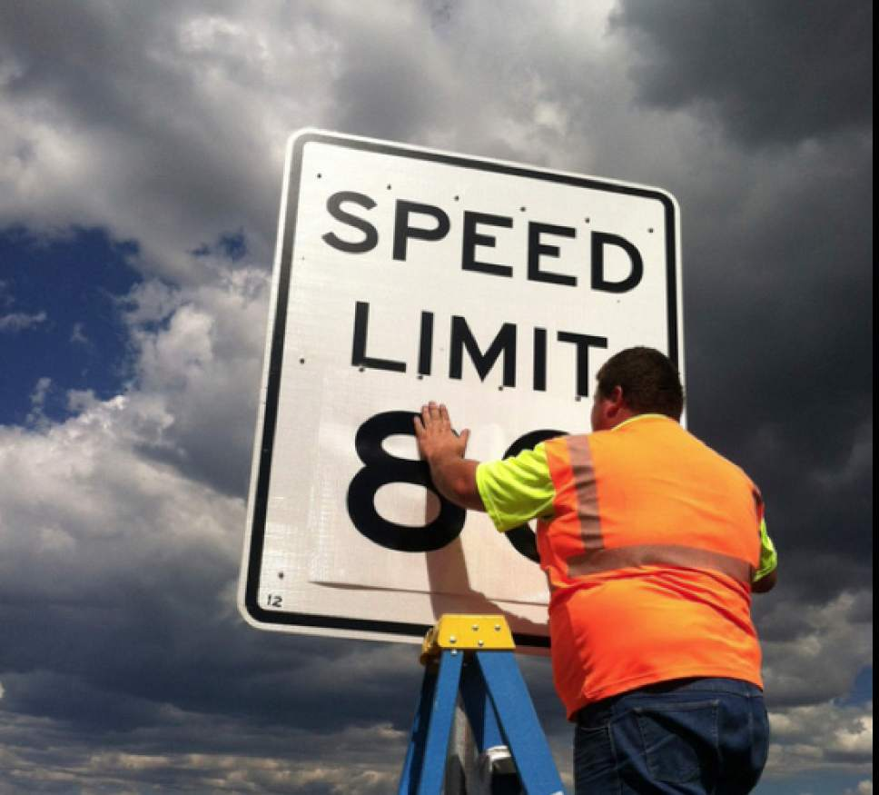 (UDOT courtesy file photo) Utah officials are proposing additional 80 mph speed limit zones on some rural highways.