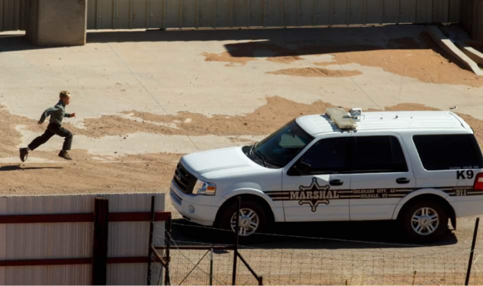 Trent Nelson     The Salt Lake Tribune Colorado City Marshal on patrol Monday, February 18, 2013 in Hildale, Utah.